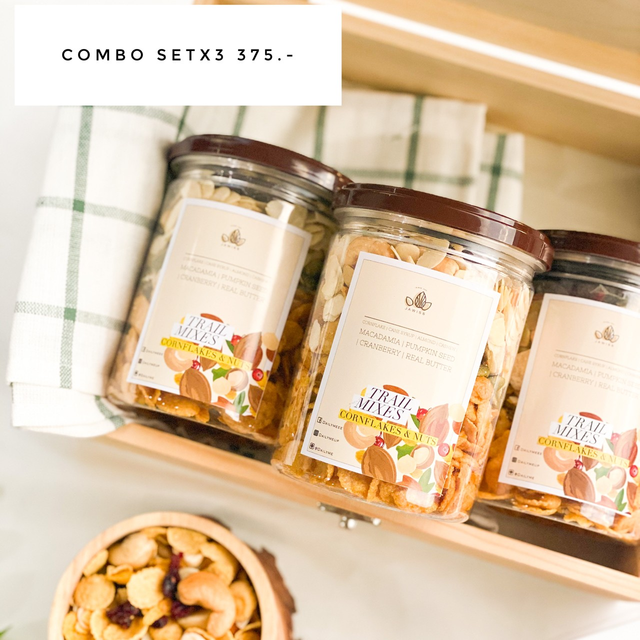 Combo Set Jawiss Cornflakes&Nuts